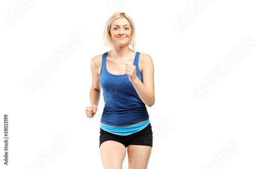 A female runner
