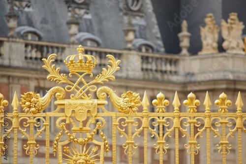 Cancellata dorata della reggia di Versailles Poster