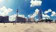 Leinwanddruck Bild - Berlins Alexanderplatz