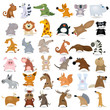 Big vector cartoon animal set #2