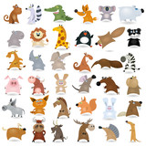 Fototapety Big vector cartoon animal set #2