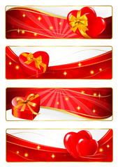 Set of holiday banners. Vector illustration.