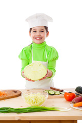 Little cooker with cabbage