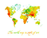 World map the geographical