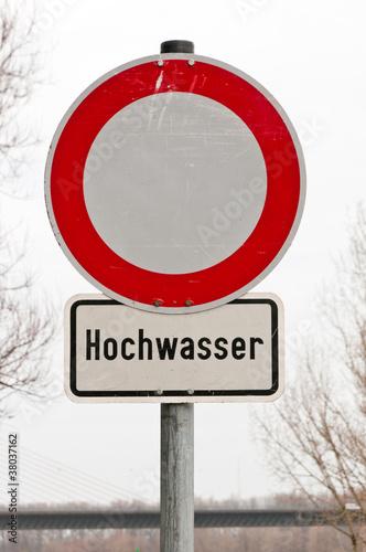 Hochwasser Schild - 38037162