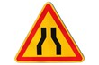 Panneau de danger temporaire : chaussée rétrécie