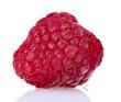 ripe raspberry isolated on white
