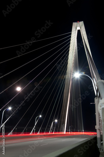 The Cooper River Bridge at Night (Long Exposure)