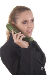 Geschäftfrau beim Telefonieren