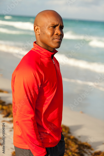 Handsome Man Outdoor Portrait in Miami South Beach
