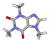 Caffeine sticks molecular model poster