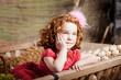 Beautiful  child on the farm