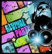 Background for music international disco event