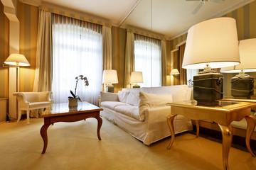 luxury confortable hotel room