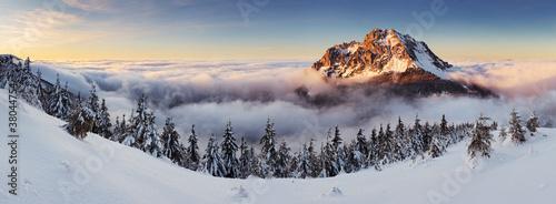 Fototapeten,berg,panorama,winter,sonnenuntergänge