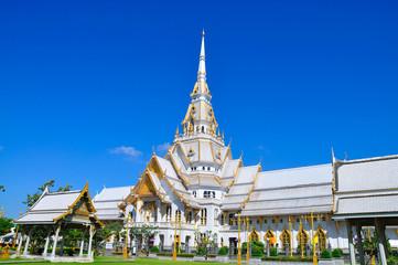 A great marble church, Wat Sothorn, Chachoengsao Thailand