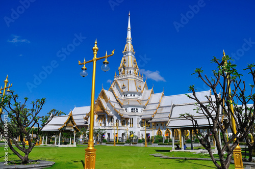 A great marble church, Wat Sothorn, Chachoengsao Thailand