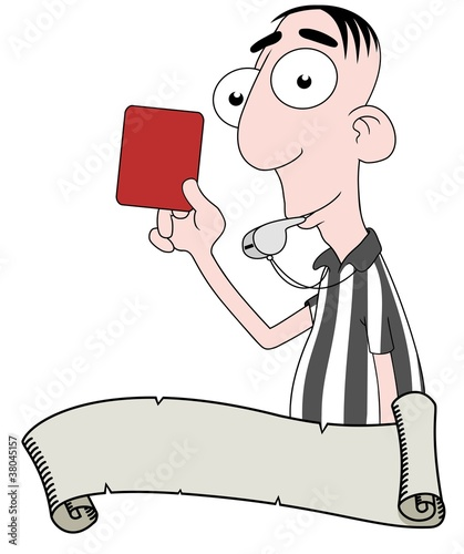 Referee and scroll