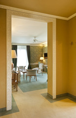 interior luxury apartment, view from hall