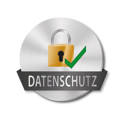 metallisches-rundes-icon-datenschutz
