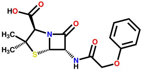 Penicillin V structural formula