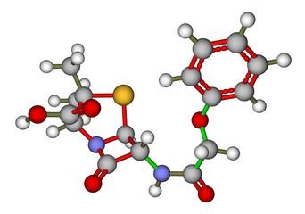 Penicillin V molecular structure