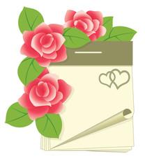 Love calendar, vector illustration