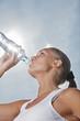 beauty girl drink water