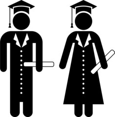 Graduates pictogram