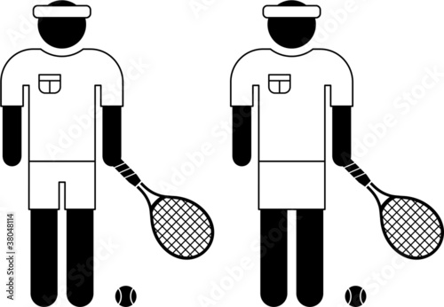 pictogram of a tennis player
