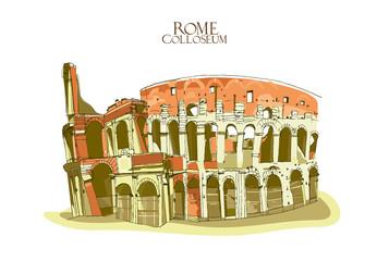 Colosseum near the Forum Romanum in Rome