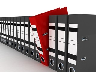 Folders for documents, 3D