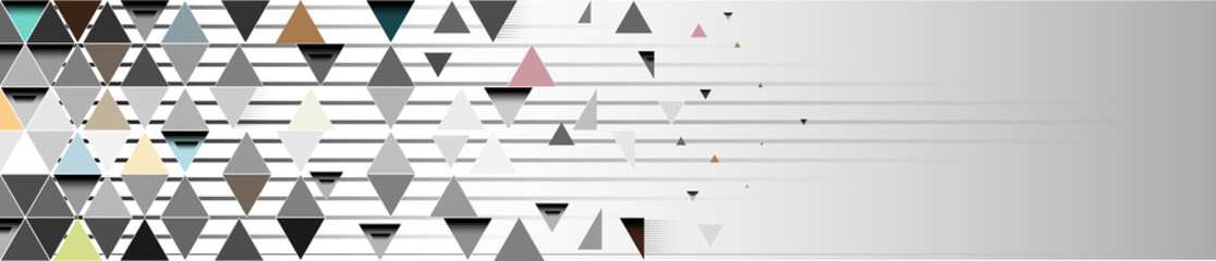 Triangle abstract vector banner