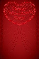 Valentine card - Valentine's day greeting card