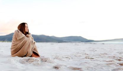 cold beach blanket