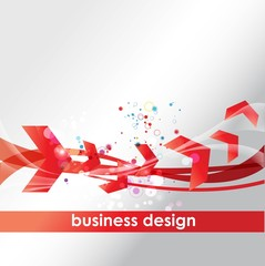 business concept design with arrows
