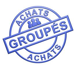 """Achats Groupés"" Cachet (bleu)"