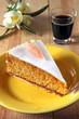 karottenkuchen mit kaffee