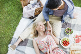 Young couple enjoying picnic