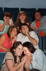 Scared People In Theater