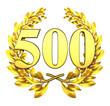 500 fivehundred number laurel wreath