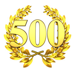 500 fivehundred number laurel wreath