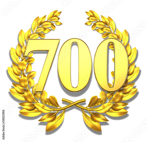 700 sevenhundred number laurel wreath