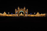 The Mysore Palace at night (India)
