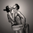 Passionate Naked Couple In Suggestive Pose