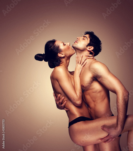 Erotic Couple Embracing