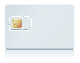 Vector illustration of blank SIM Card.
