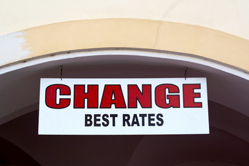 Change rate sign