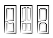 doors collection of isolated illustration
