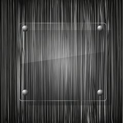 glass on grunge background. Vector illustration